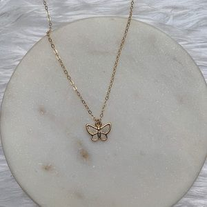 Jewelry - Butterfly charm gold necklace